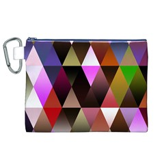 Triangles Abstract Triangle Background Pattern Canvas Cosmetic Bag (xl)