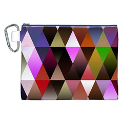 Triangles Abstract Triangle Background Pattern Canvas Cosmetic Bag (XXL)