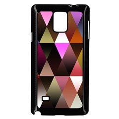 Triangles Abstract Triangle Background Pattern Samsung Galaxy Note 4 Case (black)