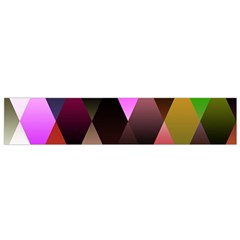 Triangles Abstract Triangle Background Pattern Flano Scarf (Small)