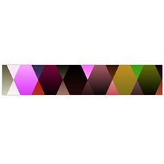 Triangles Abstract Triangle Background Pattern Flano Scarf (Large)
