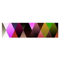 Triangles Abstract Triangle Background Pattern Satin Scarf (Oblong)