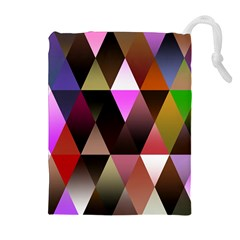 Triangles Abstract Triangle Background Pattern Drawstring Pouches (Extra Large)