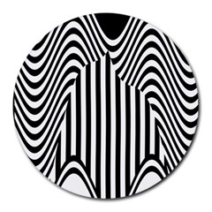 Stripe Abstract Stripped Geometric Background Round Mousepads