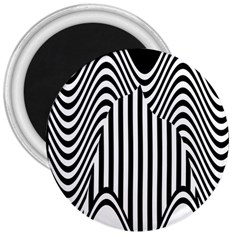 Stripe Abstract Stripped Geometric Background 3  Magnets