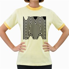 Stripe Abstract Stripped Geometric Background Women s Fitted Ringer T Shirts