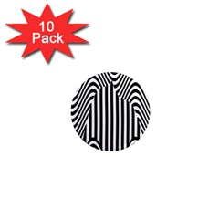 Stripe Abstract Stripped Geometric Background 1  Mini Magnet (10 pack)