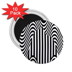 Stripe Abstract Stripped Geometric Background 2 25  Magnets (10 Pack)