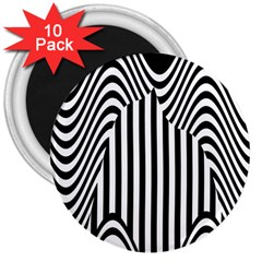 Stripe Abstract Stripped Geometric Background 3  Magnets (10 Pack)