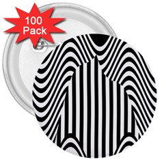 Stripe Abstract Stripped Geometric Background 3  Buttons (100 Pack)