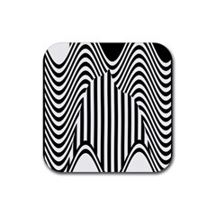 Stripe Abstract Stripped Geometric Background Rubber Square Coaster (4 Pack)