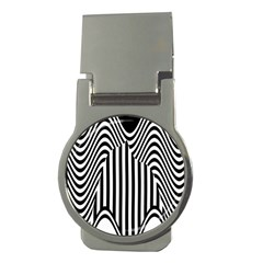 Stripe Abstract Stripped Geometric Background Money Clips (Round)