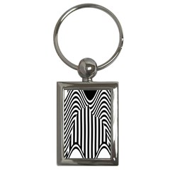 Stripe Abstract Stripped Geometric Background Key Chains (rectangle)