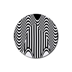 Stripe Abstract Stripped Geometric Background Rubber Coaster (Round)