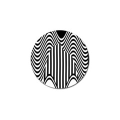 Stripe Abstract Stripped Geometric Background Golf Ball Marker