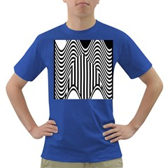 Stripe Abstract Stripped Geometric Background Dark T Shirt
