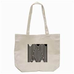 Stripe Abstract Stripped Geometric Background Tote Bag (cream)