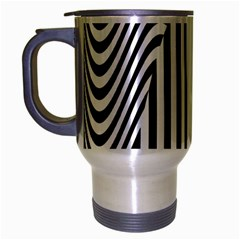 Stripe Abstract Stripped Geometric Background Travel Mug (silver Gray)