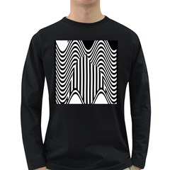 Stripe Abstract Stripped Geometric Background Long Sleeve Dark T Shirts