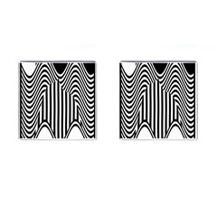 Stripe Abstract Stripped Geometric Background Cufflinks (square)