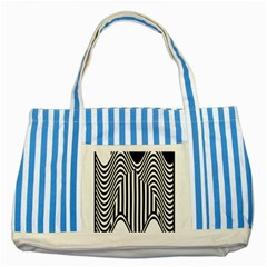 Stripe Abstract Stripped Geometric Background Striped Blue Tote Bag