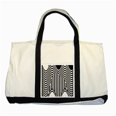 Stripe Abstract Stripped Geometric Background Two Tone Tote Bag