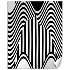 Stripe Abstract Stripped Geometric Background Canvas 11  X 14