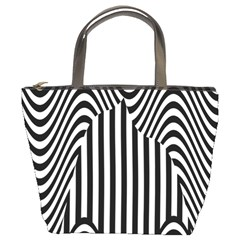 Stripe Abstract Stripped Geometric Background Bucket Bags