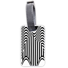 Stripe Abstract Stripped Geometric Background Luggage Tags (Two Sides)