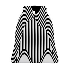 Stripe Abstract Stripped Geometric Background Ornament (Bell)