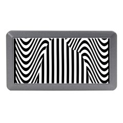 Stripe Abstract Stripped Geometric Background Memory Card Reader (mini)