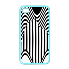 Stripe Abstract Stripped Geometric Background Apple iPhone 4 Case (Color)