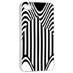 Stripe Abstract Stripped Geometric Background Apple Iphone 4/4s Seamless Case (white)