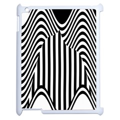 Stripe Abstract Stripped Geometric Background Apple iPad 2 Case (White)
