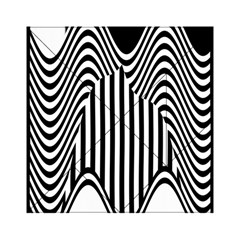 Stripe Abstract Stripped Geometric Background Acrylic Tangram Puzzle (6  X 6 )