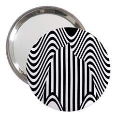 Stripe Abstract Stripped Geometric Background 3  Handbag Mirrors