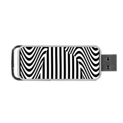 Stripe Abstract Stripped Geometric Background Portable Usb Flash (two Sides)