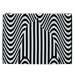 Stripe Abstract Stripped Geometric Background Cosmetic Bag (XXL)