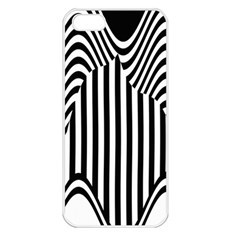 Stripe Abstract Stripped Geometric Background Apple iPhone 5 Seamless Case (White)