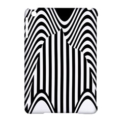 Stripe Abstract Stripped Geometric Background Apple iPad Mini Hardshell Case (Compatible with Smart Cover)