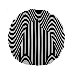 Stripe Abstract Stripped Geometric Background Standard 15  Premium Round Cushions