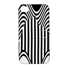 Stripe Abstract Stripped Geometric Background Apple iPhone 4/4S Hardshell Case with Stand