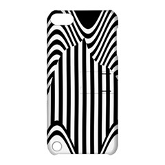 Stripe Abstract Stripped Geometric Background Apple iPod Touch 5 Hardshell Case with Stand