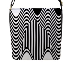 Stripe Abstract Stripped Geometric Background Flap Messenger Bag (L)