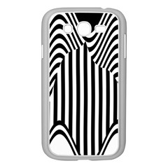 Stripe Abstract Stripped Geometric Background Samsung Galaxy Grand Duos I9082 Case (white)