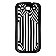 Stripe Abstract Stripped Geometric Background Samsung Galaxy S3 Back Case (Black)