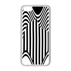 Stripe Abstract Stripped Geometric Background Apple iPhone 5C Seamless Case (White)