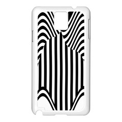 Stripe Abstract Stripped Geometric Background Samsung Galaxy Note 3 N9005 Case (White)