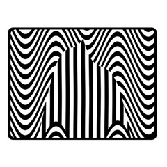 Stripe Abstract Stripped Geometric Background Double Sided Fleece Blanket (Small)