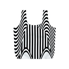 Stripe Abstract Stripped Geometric Background Full Print Recycle Bags (S)